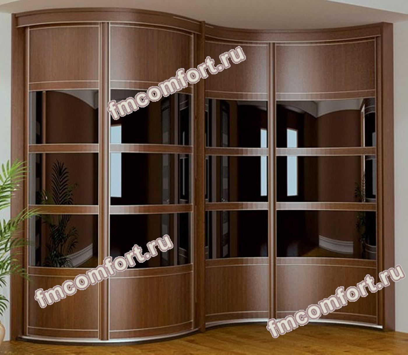 Радиусный шкаф купе в спальню московская фабрика шкафов: шка.